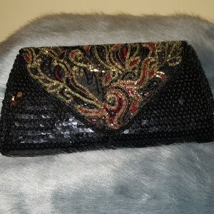 Vintage La Regale Black Evening Purse